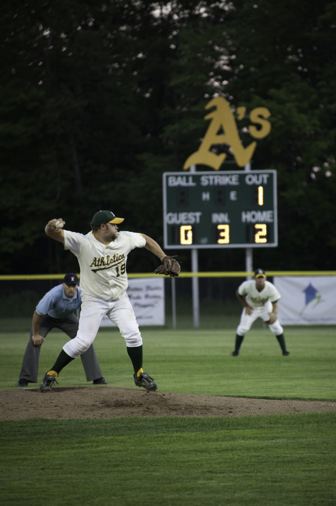 Baileys Harbor pitcher Brett Anschutz is considered one of the next great hurlers in the County League. Photo by Dan Eggert.