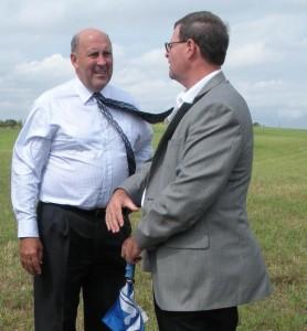 Jim Doyle and Jim Ross at Land Trust Dedication