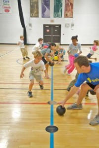 Young kids participate in the Fish Creek YMCA's after-school activities.