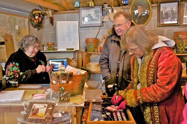 The author's parents, Myles and Mary Dannhausen, at Jorns Sugar Bush, a favorite spot.
