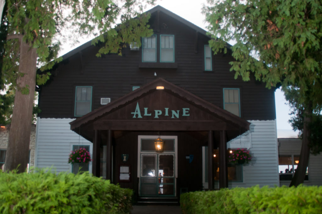 The entrance to the Alpine looks much as it did 90 years ago. Photo by Taylor Schultz.