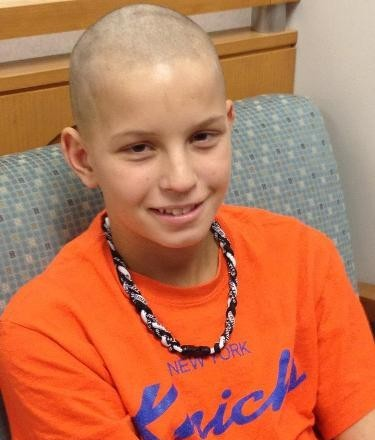 Bo Johnson, shortly after he shaved his head during chemotherapy treatments for Acute Myeloid Leukemia.