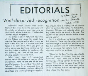 An article that Chan Harris wrote about Roy back in 1974 for the Advocate