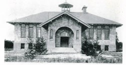 Gibraltar High School was held in this one building from 1918 to 1953. Photo by Eunice Rutherford.