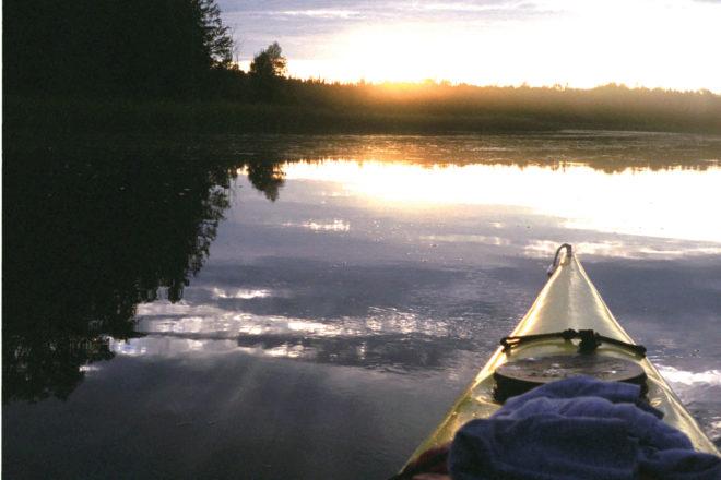 Mink River, Dan Eggert, Door County, kayaking, kayaker, sunset, Door County sunset