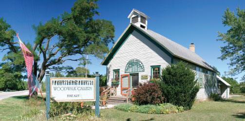 Juddville Schoolhouse, Woodwalk Gallery, history, Door County
