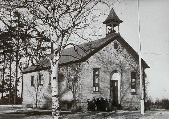 Evergreen Sschool, one-room school houses, schools, history, Door County