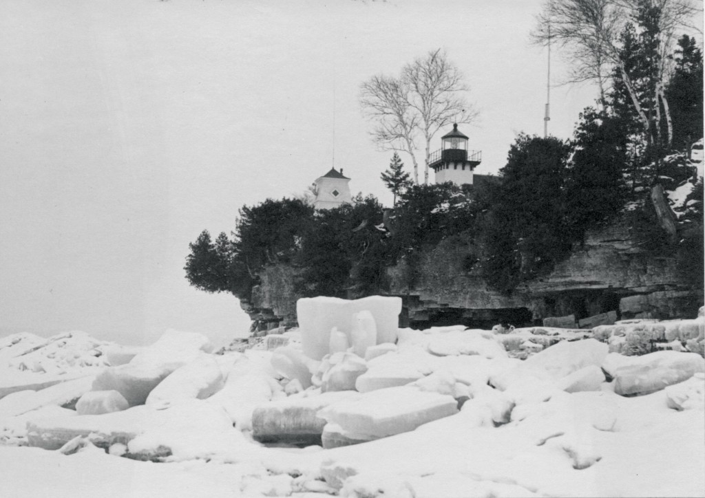 Sherwood Point Lighthouse Photo courtesy of Door County Historical Museum.