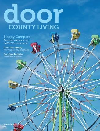 Door County Living Cover v13i2 Door County Fair ferris wheel
