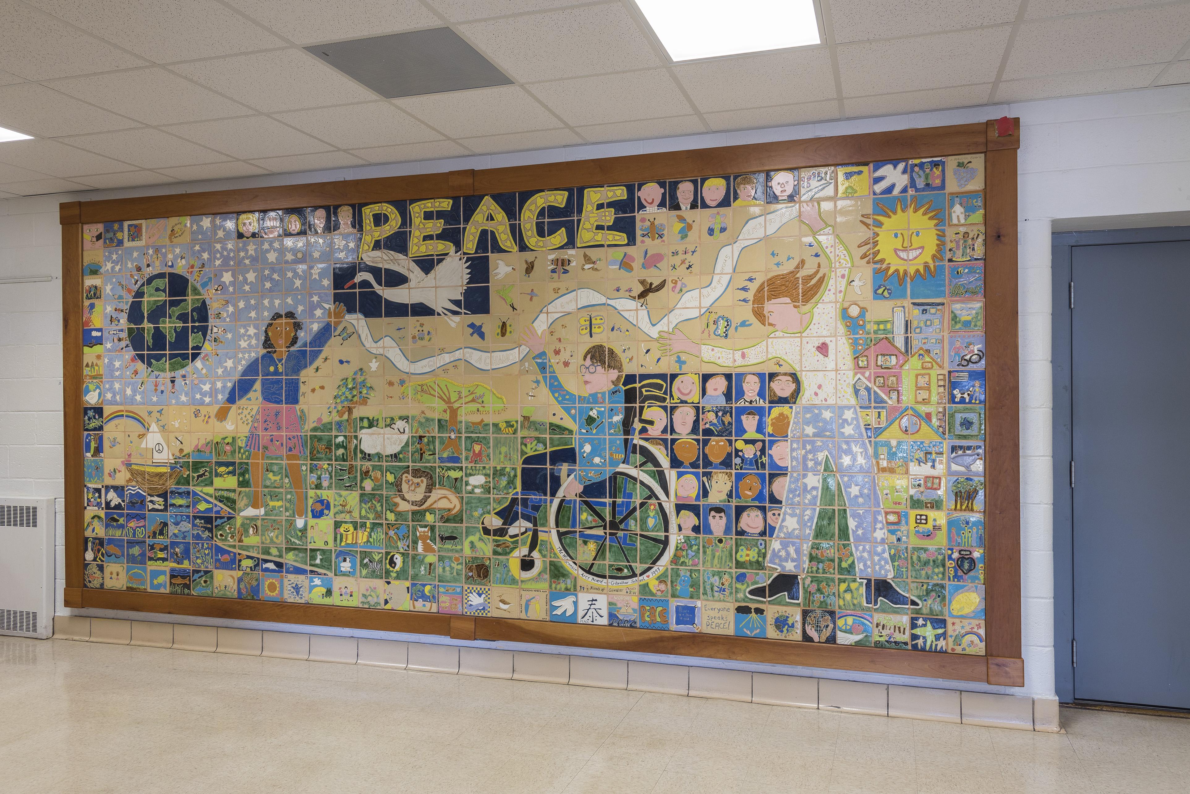 The tile murals of door county schools door county pulse for Elementary school mural