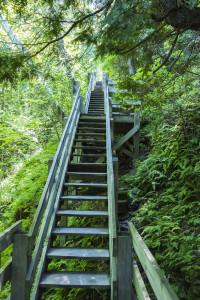 Washington Island Tower steps