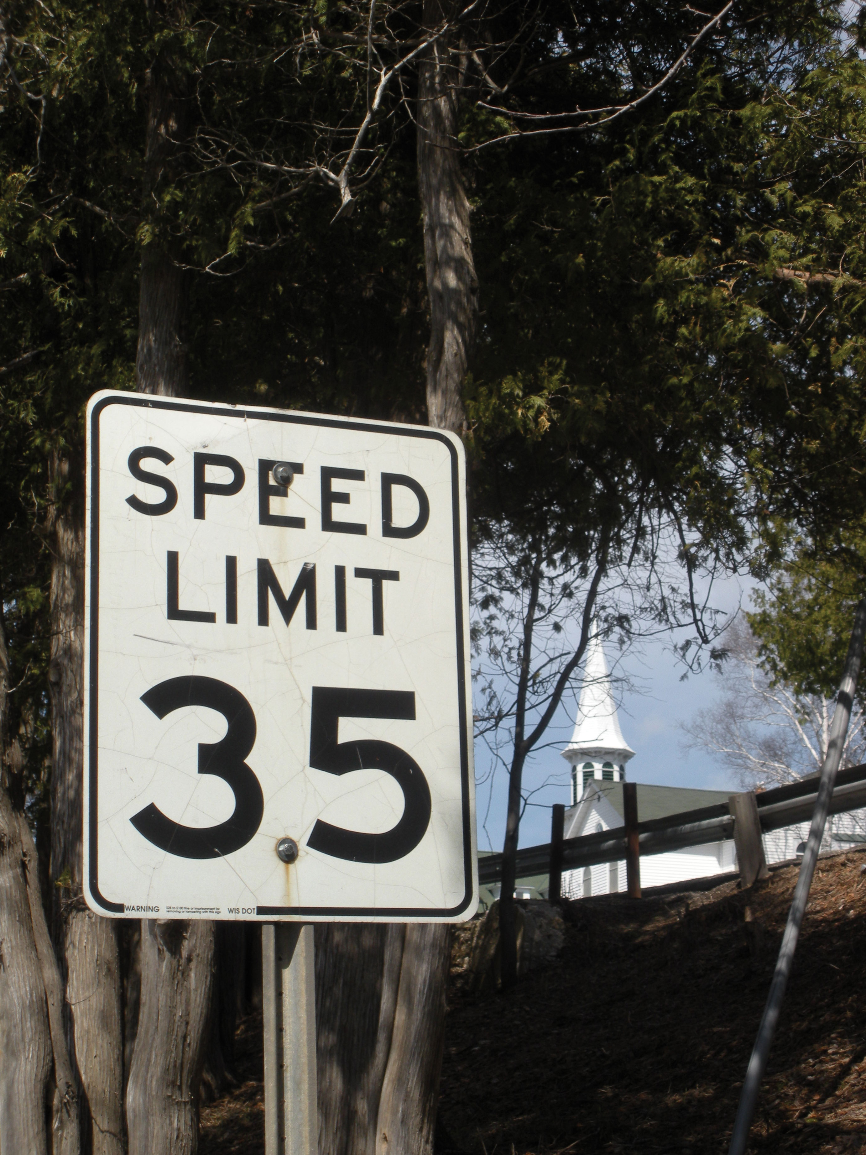 Ephraim Speed Limit Sign