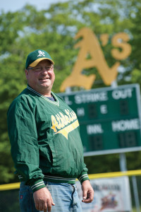 Bobby Schultz is a Haba Boy through and through, and a dedicated caretaker of the A's admired field. Photo by Len Villano.