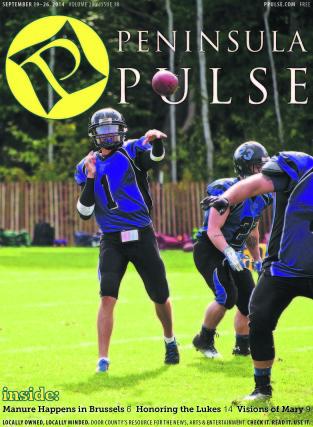 Pulse Cover v20i38 Door County Destroyers Football quarterback