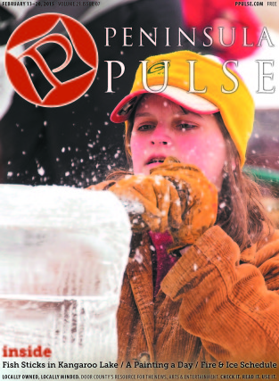 Pulse Cover v21i07 woman carves ice