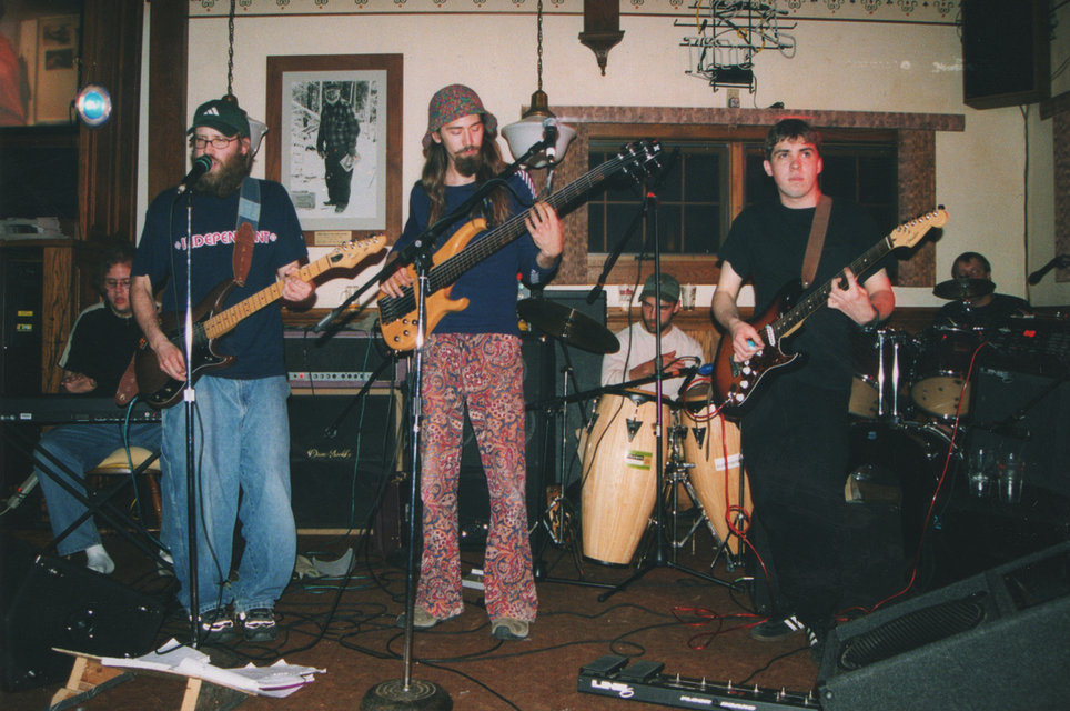 Little Marsh Overflow is one of several Door County bands that got their start playing the Bayside Tavern, where the gaze Koonie Fish never strays. Photo by Dan Eggert.