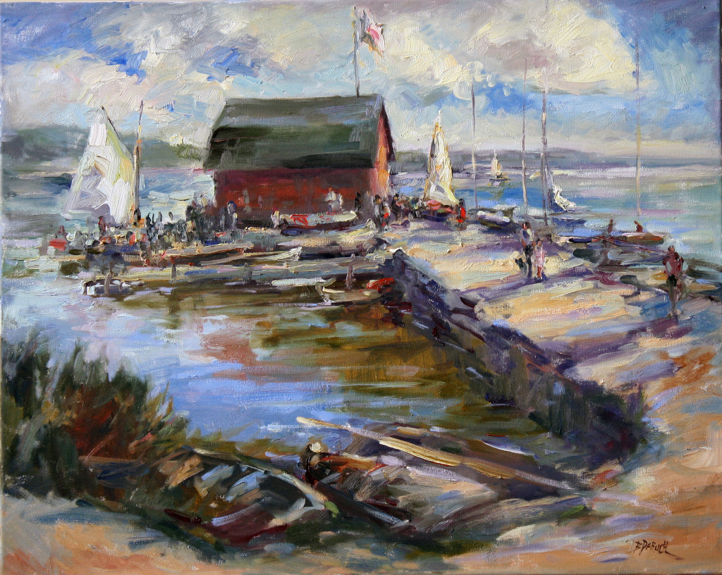 """Breezy Day on Eagle Harbor"" by Bonnie Paruch."