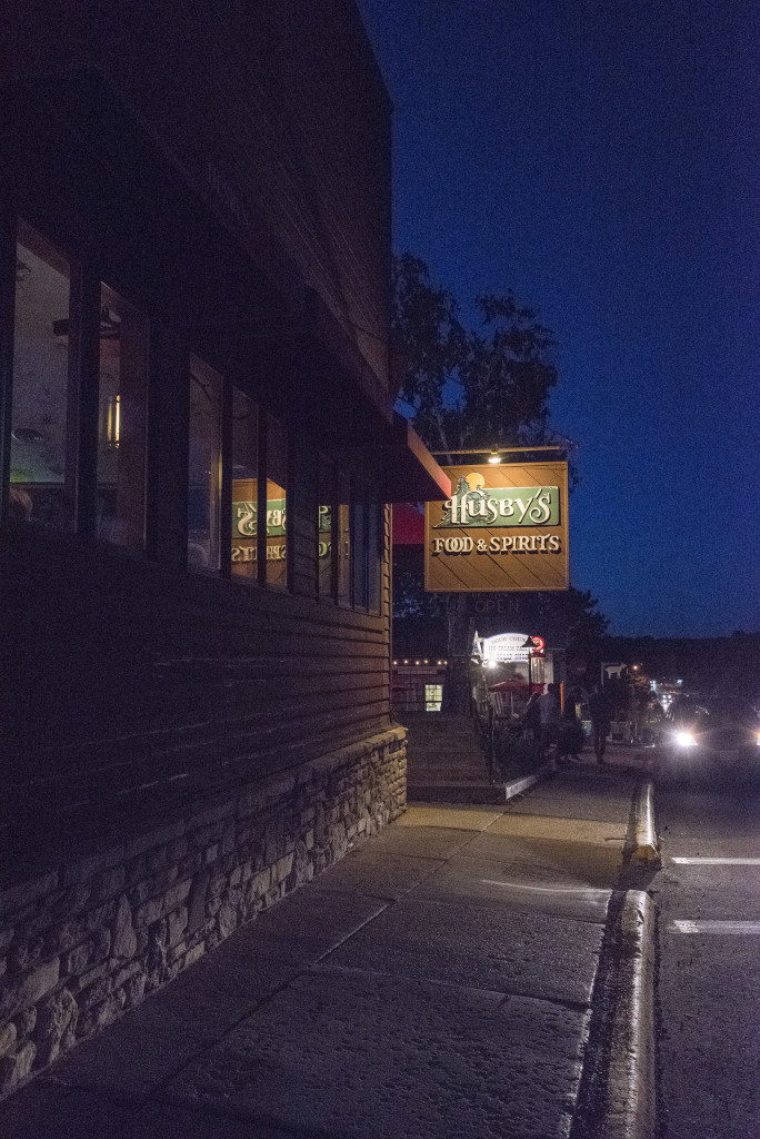 When others close, Husby's is open, whether late on a spring night or the dead of a cold winter. Photo by Len Villano.