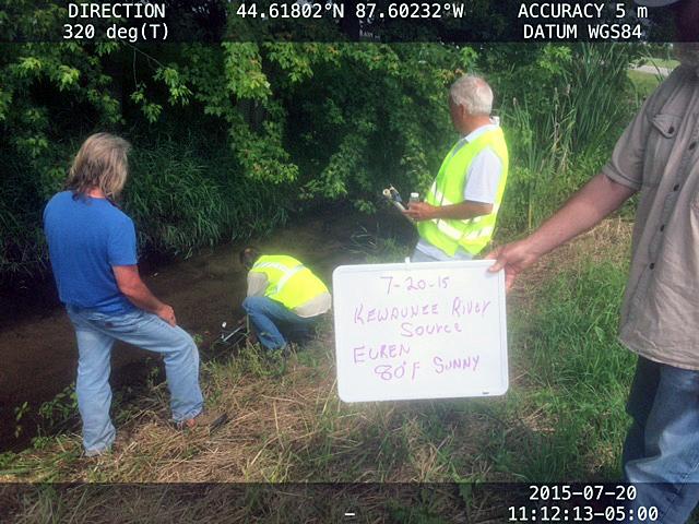 water testing kewaunee rivers