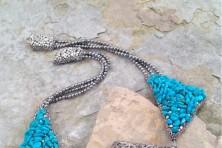 Jewelry by Peter Ciesla and Skye of Bazyli Studio.