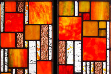 Stained glass by Josephine Geiger.