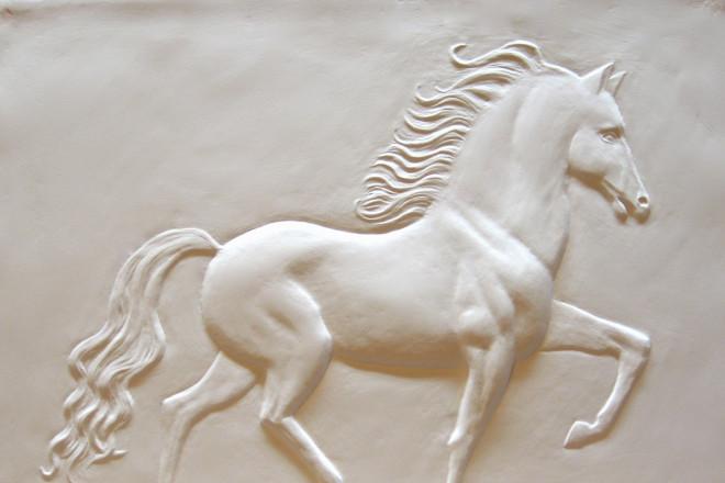"""Trotting Horse"" by Deborah Dendler."