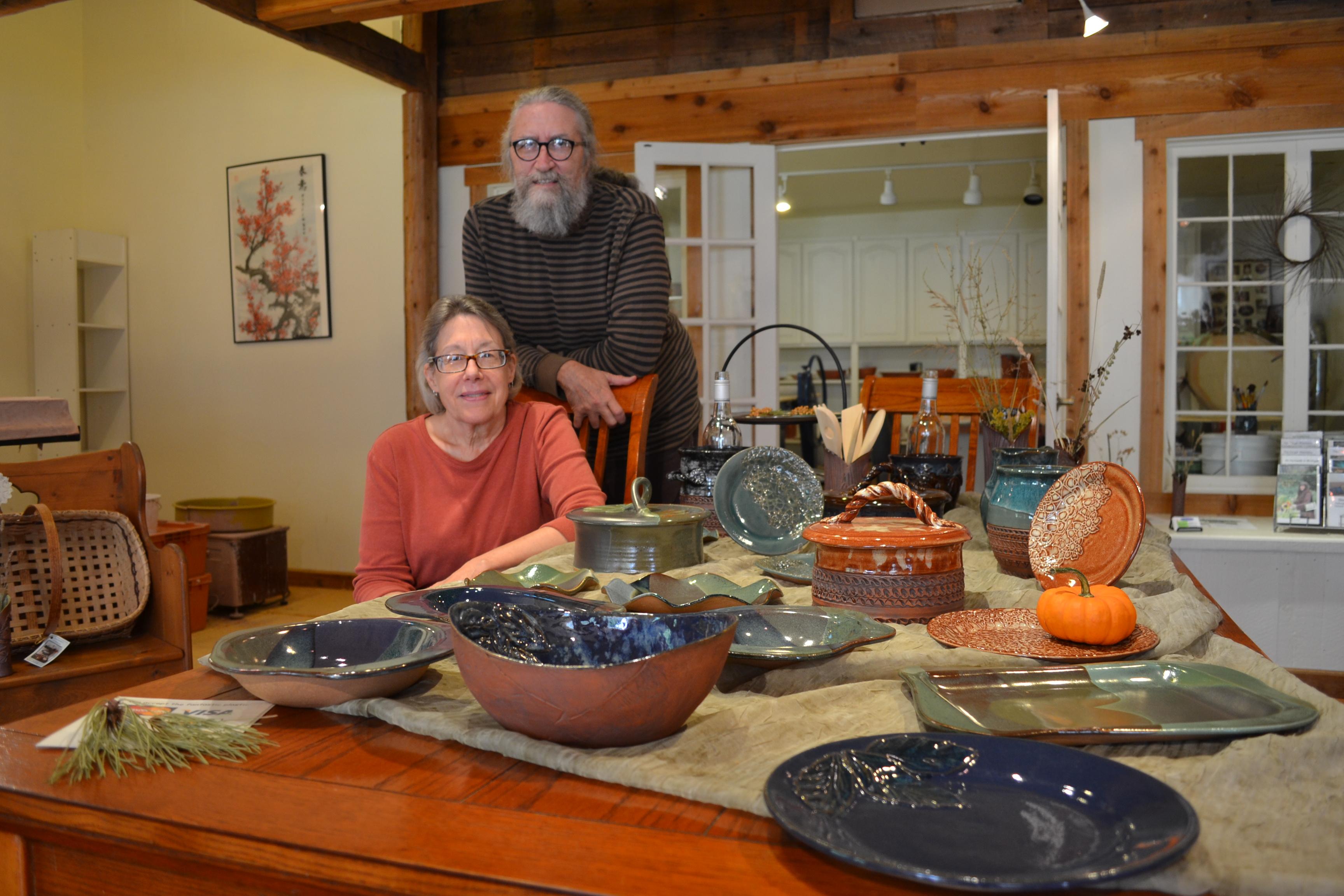 Lynn's pottery. lynn laluzerne.