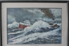 """""""Sinking of the Edmund Fitzgerald"""" by Walter Peterson."""
