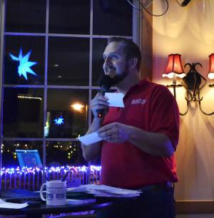 MC Nick Freimuth at Stone Harbor's Thirsty Thursday Trivia.