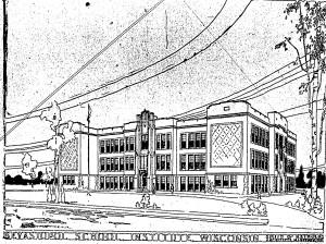 The original school in 1924.