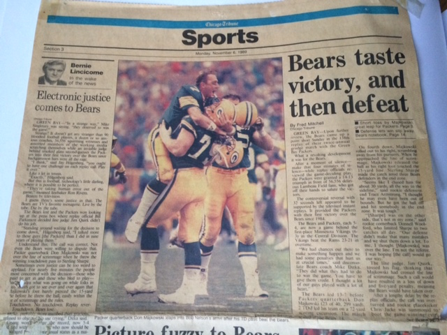 When the Packers defeated the Bears for the first time in eight tries in 1989, it sent shockwaves through the NFL.