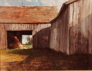 """Chris Odegaard's Barn,"" egg tempera, 1970."