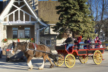 Horsedrawn carriage rides are part of the festivities in Ephraim this weekend. Photo by Len Villano.