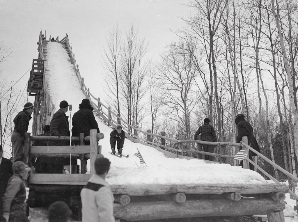 The ski jump in Peninsula State Park was a cooperative effort between the Civilian Conservation Corps, the park and local organizations. Photo courtesy of the Wisconsin DNR.