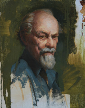 """Abe Cohn,"" oil on linen, by Craig Blietz."