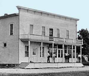 James Hansen's General Store in Ephraim around 1900. Sam Hogenson was postmaster, and the post office was in one corner of the store. Hogenson served the community for 36 years. The building still stands along Hwy 42, although it is now a restaurant with lodging upstairs. Photo courtesy of the Ephraim Historical Foundation collection.