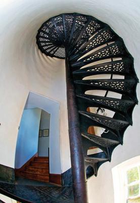 Len Villano, spiral staircase
