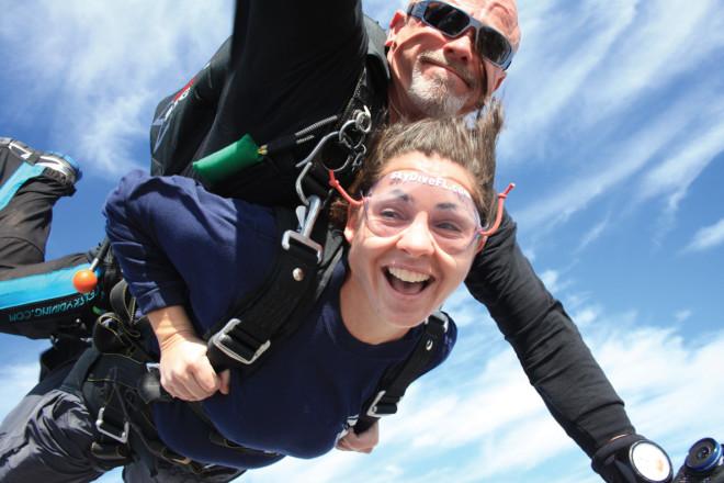dclv10i02 outside in door tandem skydivers 660x440 experience the thrills of skydive door county door county pulse