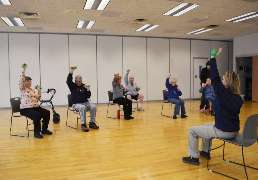 The Parkinson's class combines strength, flexibility and mobility to keep those suffering form the disease in touch with their motor skills. Submitted photo.