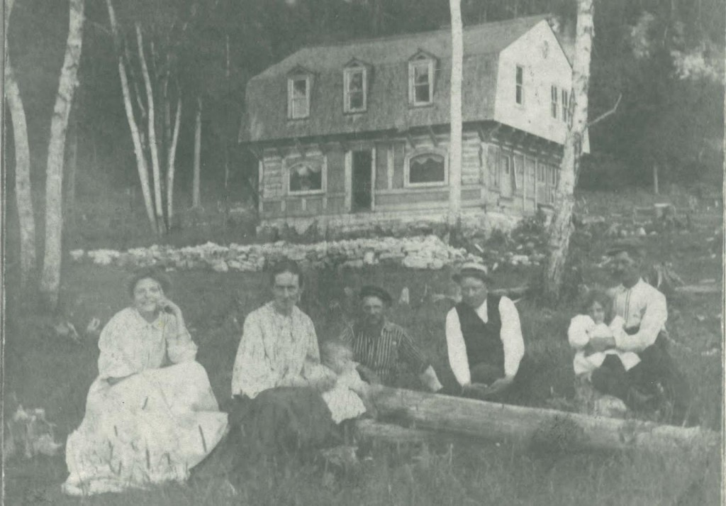 Hjalmar Holand at his homestead, which is now part of Peninsula State Park. Photo from the collection of Barb Olson.
