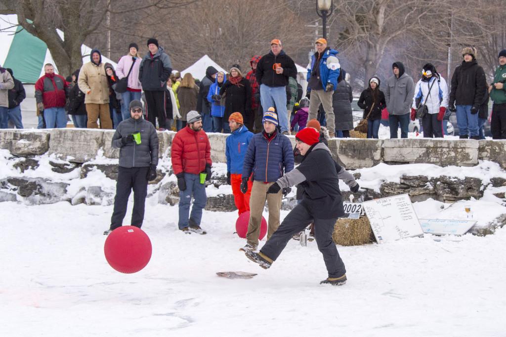 The Winter Fest Kickball Tournament. Photo by Len Villano.