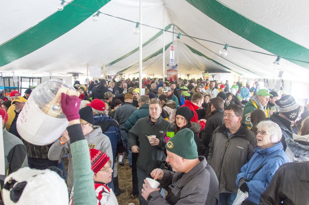 Inside the Winter Fest tent. Photo by Len Villano.