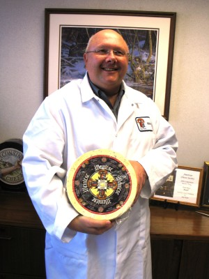 Master Cheesemaker Mike Brennenstuhl. Photo courtesy Wisconsin Dairy Board.