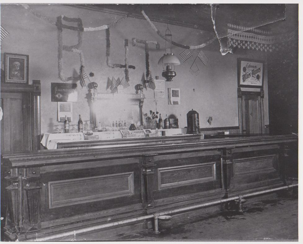 Interior of Institute Saloon. Photo courtesy of Door County Historical Museum.