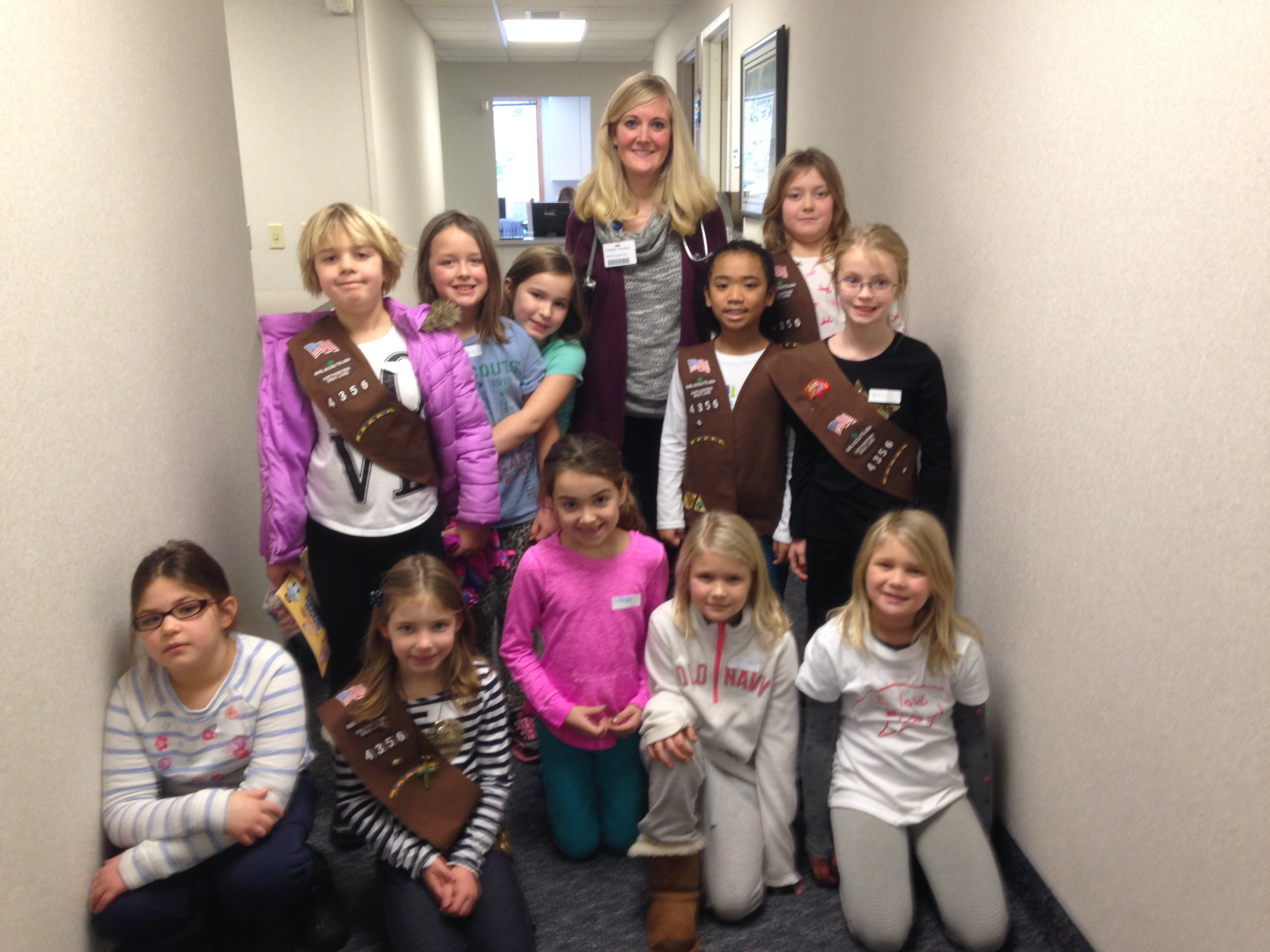 Girl Scout Brownie Troop Visits Ministry Clinic and Door County