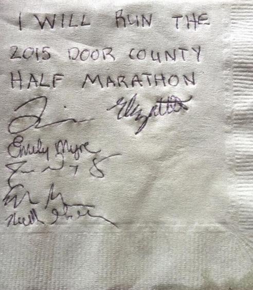 Napkin-2015 Door County Half Marathon