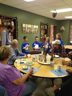 Sunrise Ambassadors helping at the Senior Resource Center in Sturgeon Bay. Submitted.
