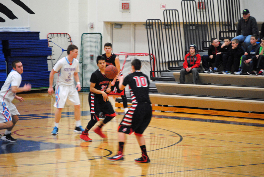 The Sevastopol Pioneers boys basketball team wrapped up their season in February, finishing with a 4-18 overall record. Submitted.