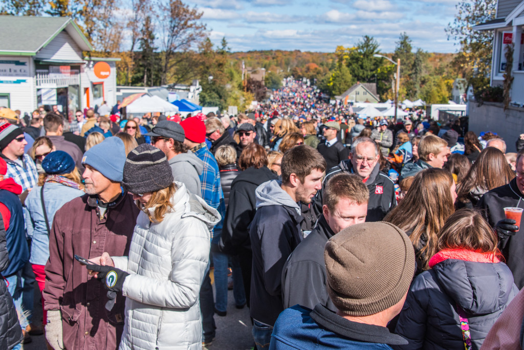 Sister Bay Fall Fest Crowd LVP