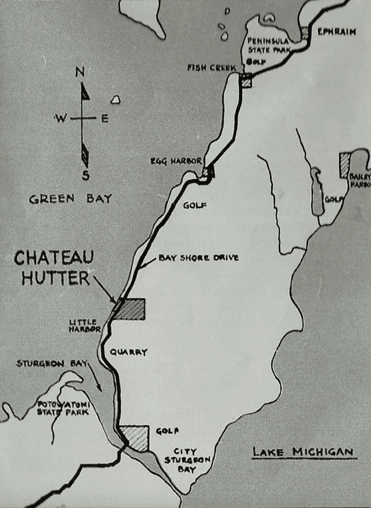 Chateau Hutter sits a few miles north of Sturgeon Bay.